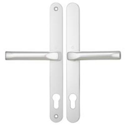 Hoppe London Centres-PZ- 92mm Screw Centres- 240mm Backplate- 270mm x 30mm - White
