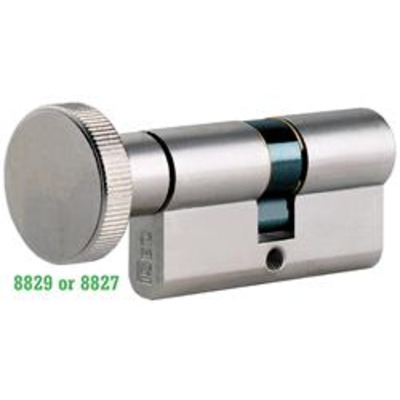 ISEO R6 Euro thumb turn cylinder - T30-30 Nickel