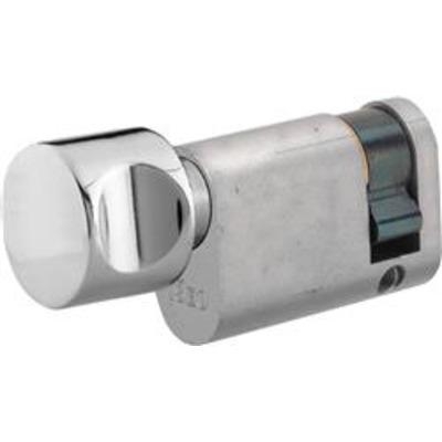 ISEO R6 Half Oval thumb turn profile cylinder - Turn 30-10 Ext Nickel