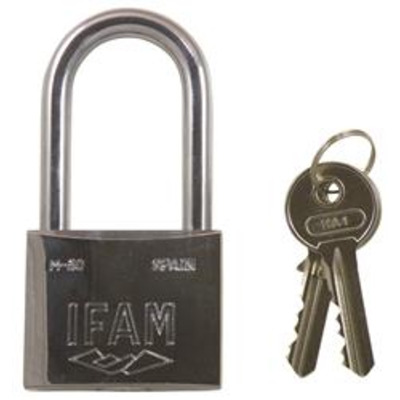 Ifam 30mm, 40mm & 50mm Stainless Steel Long Shackle Padlock Keyed Alike - Key to differ