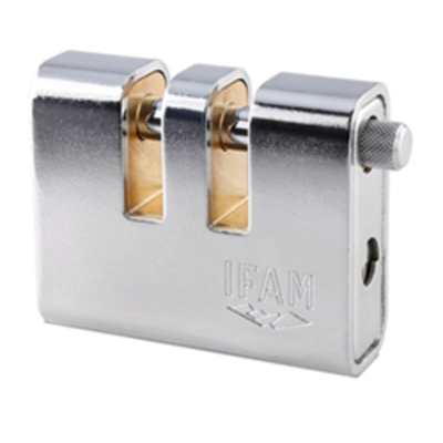 Ifam AP90 CEN4 Two Shackle Armoured Padlock - 91mm body