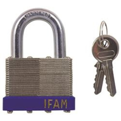 Ifam Laminated Standard Shackle Padlock - Key to differ