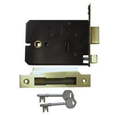 Imperial G5011-5012 5 Lever 5 or 6 Horizontal Mortice Sashlock - 127mm brass