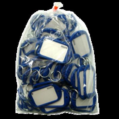 KEVRON ID10 Jumbo Key Tags Bag of 50 single colour - Red x 50