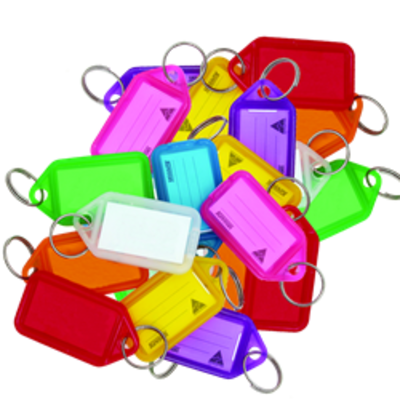 KEVRON ID30 Giant Tags Bag of 25 Assorted Colours - Assorted Colours x 25