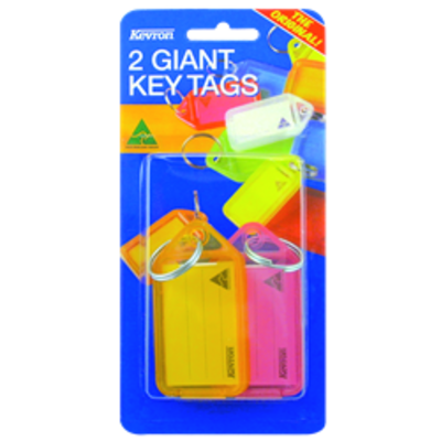 KEVRON ID30 Giant Tags Blister Pack 4 pcs Assorted Colours - 2 pcs