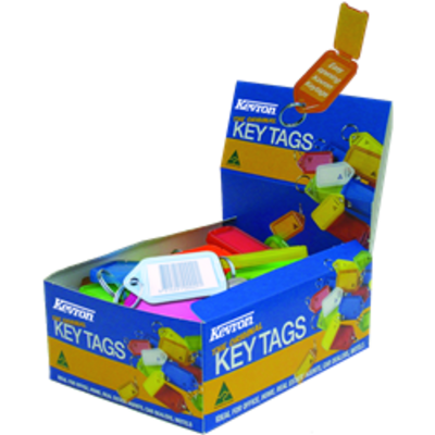 KEVRON ID30 Giant Tags Display Box 50pcs Assorted Colours - Assorted Colours x 50