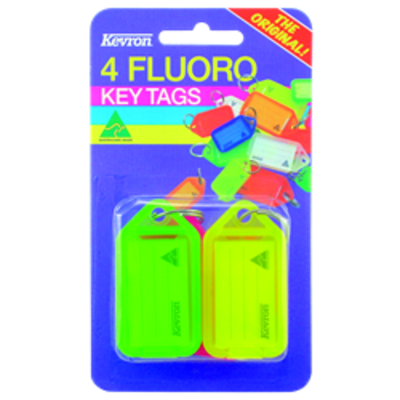KEVRON ID38 Fluorescent Tags Blister Pack 4 pcs - 4 pcs