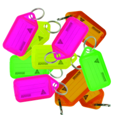 KEVRON ID38 Tags Bag of 50 Assorted Colours Fluorescent - Assorted Fluorescent