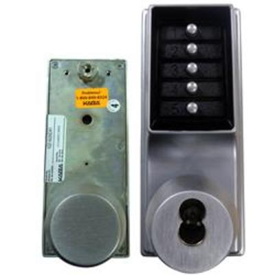 Kaba Simplex-Unican 1021 Series Mortice Latch Digital Lock with Key Override - 1021B-26D-41 Tubular mortice latch version with key