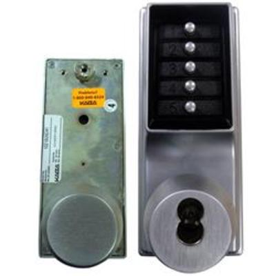 Kaba Simplex-Unican 1041 Series Mortice Latch Digital Lock with Passage and Key Override - 1041B-26D-41 Tubular mortice latch version with passage f