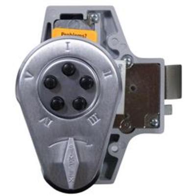 Kaba Simplex-Unican 938 Series Rim Deadlatch Digital Lock with Key Bypass - 9380000-26D-41 Rim deadlatch with key bypass