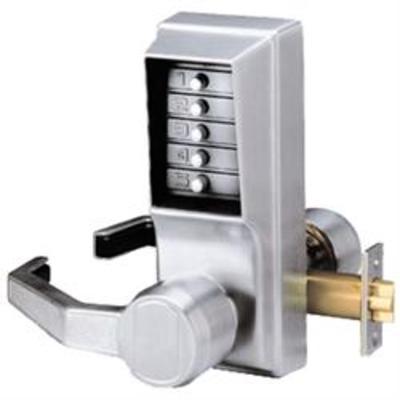 Kaba Simplex-Unican LL1011 Series Mortice Latch Digital Lock with Lever Handles - LR1011-26D-41 Tubular mortice latch RH