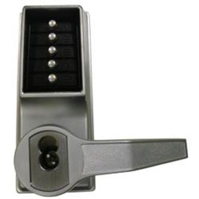 Kaba Simplex-Unican LL1021 Series Mortice Latch Digital Lock with Lever Handles and Key Override - LR1021B-26D-41 key override RH