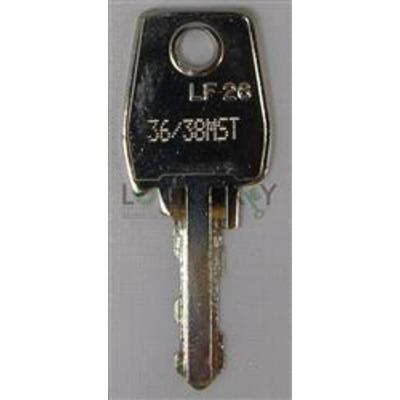 L&F 36-38 series key cut to code 36001-38000 - L&F 36-38 series key cut to code 36001-38000