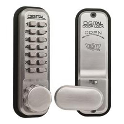 Lockey 2435 Tubular Mortice Latch Digital Lock With Holdback - Tubular mortice latch version with holdback