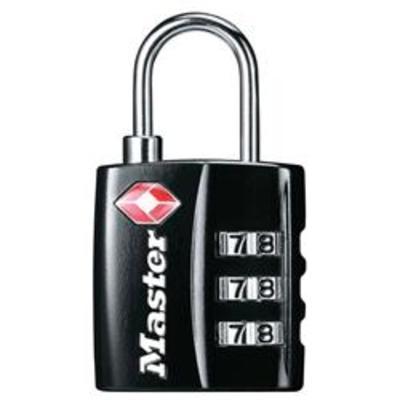 MASTER LOCK 4680 TSA Combination Luggage Padlock - BLK Visi