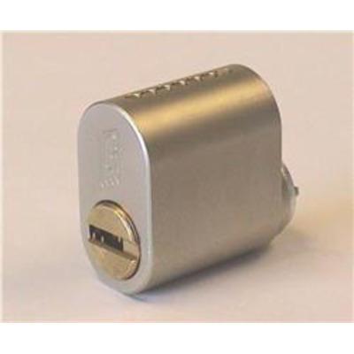 Mul T Lock Garrison Scandinavian Oval Cylinder - Internal Scandinavian oval satin steel