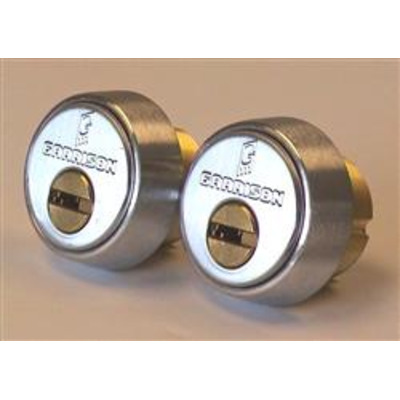 Mul T Lock Integrator Threaded Mortice Cylinders - Satin Steel