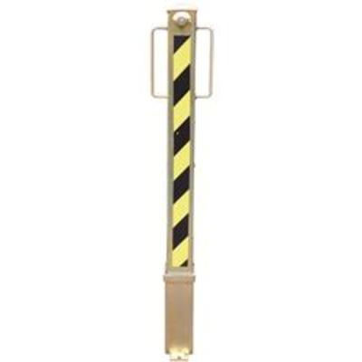 PJB Removable Keylocking Parking Post - Yellow-Black and Gold