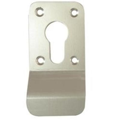 Square Euro Screw On Keyhole Finger Pull - Satin Anodised Aluminium (SAA)