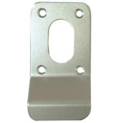 Square Oval Screw On Oval Keyhole Finger Pull - Satin Anodised Aluminium (SAA)