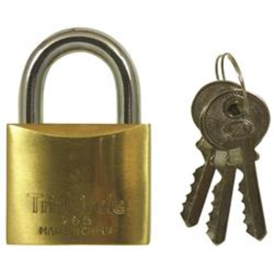 Tri Circle Brass Padlocks - Keyed to differ