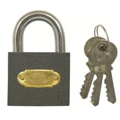 Tri Circle Standard Shackle Padlock - Key to differ