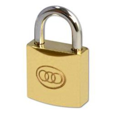 Tricircle 26 Series Brass Open Shackle Padlocks - 20mm KD Boxed
