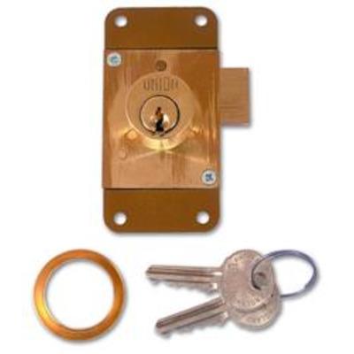 UNION 4143 Cylinder Straight Cupboard Lock - 75mm PL KD Bagged