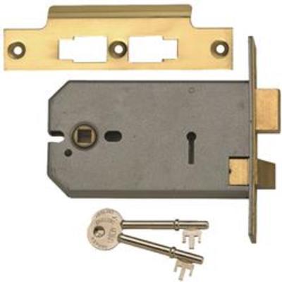 Union 2077 3 Lever Horizontal Mortice Lock - 124mm