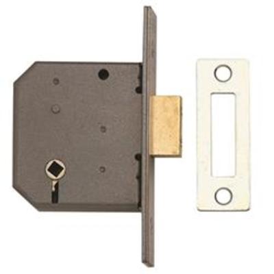 Union 2126 3 Lever Bathroom Deadlock - 65mm (2.5-)