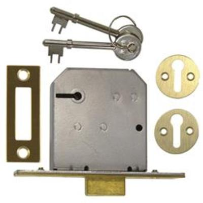 Union 2177 3 Lever Mortice Deadlock - 65mm (2.5)