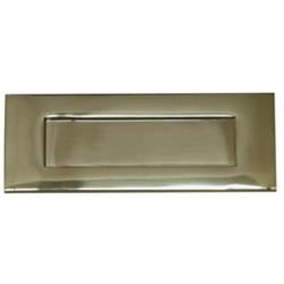 Victorian Sprung Letter Plate - Brass (PB)