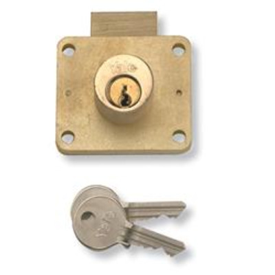 YALE 066 Cylinder Till Lock - 22mm PB KD Bagged