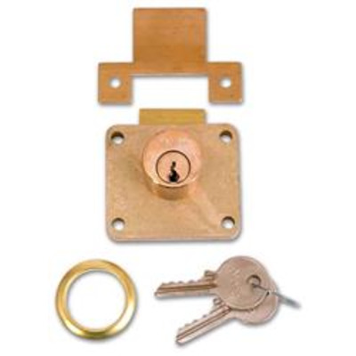 YALE 066S Cylinder Till Lock - 22mm PB KD Bagged